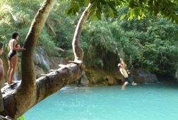 kuang si falls swiming