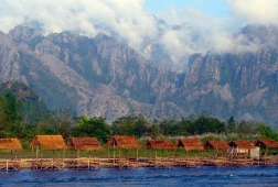 vang vieng on mekong river