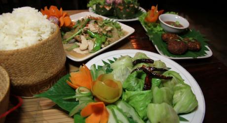 Cooking in Vientiane