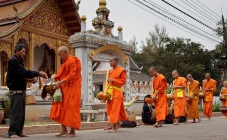 Almsgiving Luang Prabang