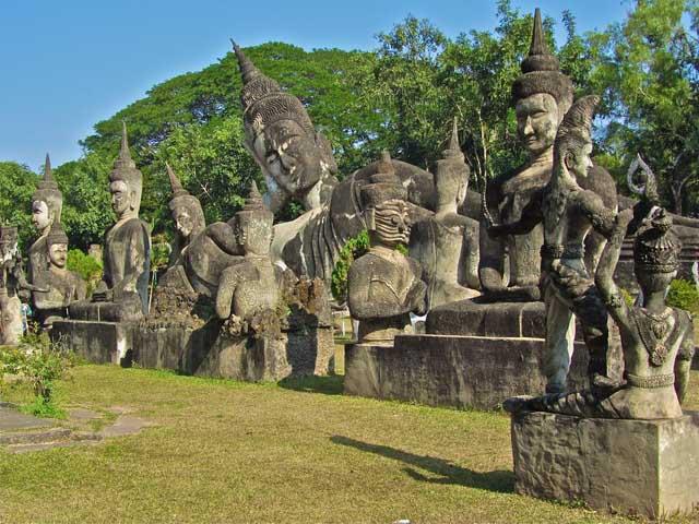 Buddha Park (Xieng Khuan) and Lao Textiles